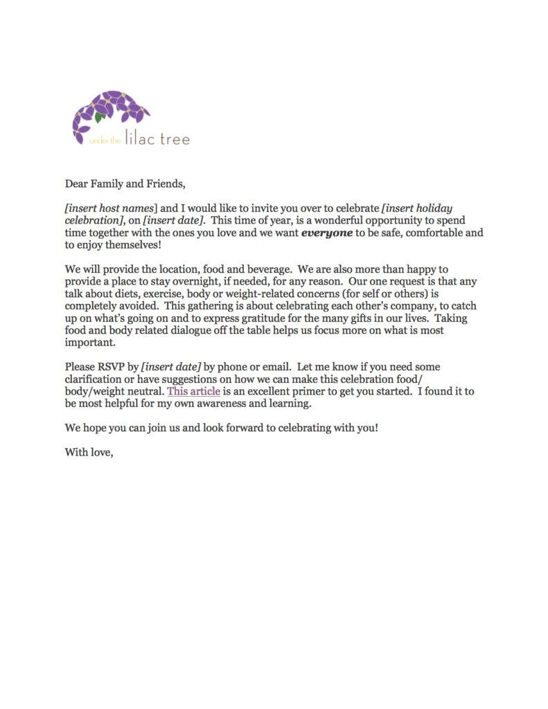 Holiday Invitation PDF